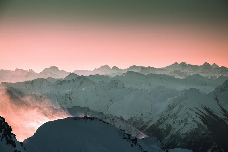 De bergen vanuit Obergurgl - Hochgurgl