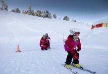 Met kinderen op wintersport.