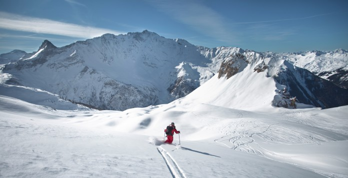 autovrij skigebied les arcs