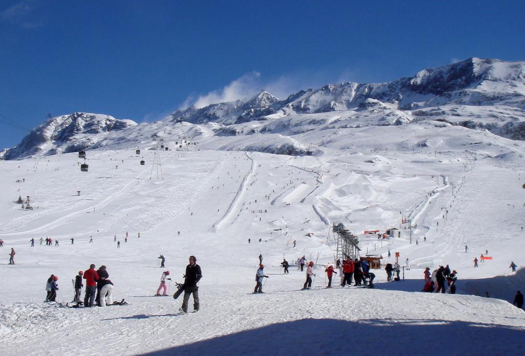 Snowpark in Alpe d'Huez