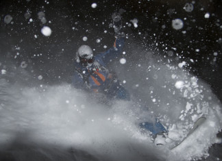 Sneeuwval, sneeuwval in de Alpen