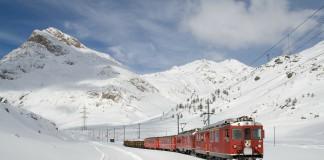 Bernina Express (c) Lagalb, Bernina Express, de mooiste treinroutes in de sneeuw, met de trein op skivakantie