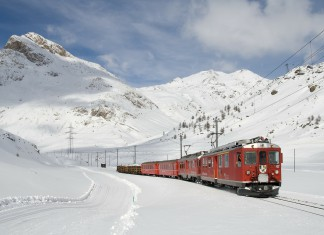 Bernina Express (c) Lagalb, Bernina Express, de mooiste treinroutes in de sneeuw