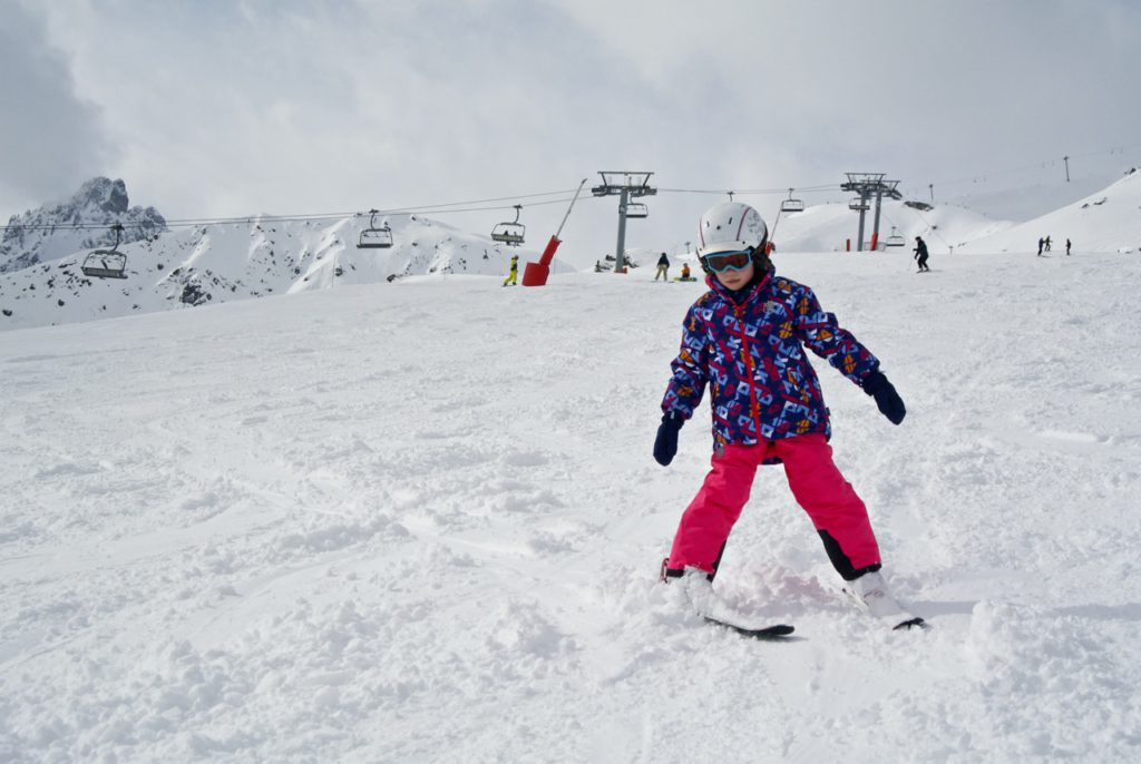 Onze jongste skikampioen in Courchevel.