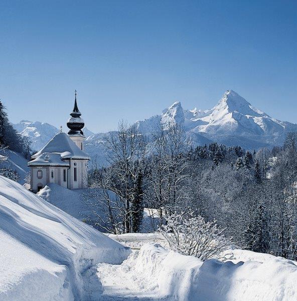 Besneeuwde vergezichten © Berchtesgadener Land Tourismus