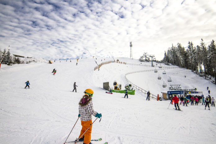 skiën in Duitse middelgebergtes