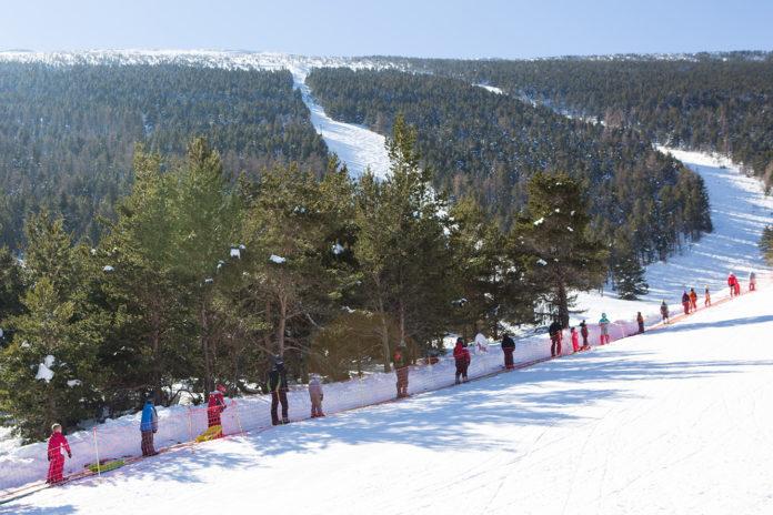 skiën op de mont ventoux